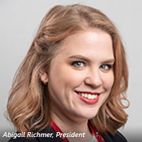 Headshot of Abigail Richmer, president of the organization.
